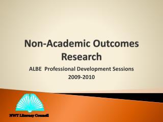 Non-Academic Outcomes Research