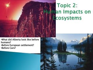 Topic 2: Human Impacts on Ecosystems
