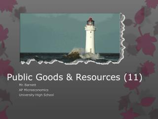 Public Goods & Resources (11)