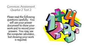 Common Assessment Quarter 2 Test 2