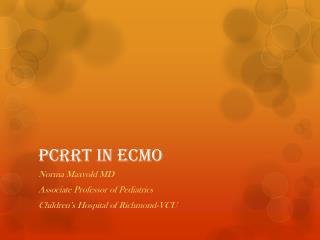 PCRRT in ECMO