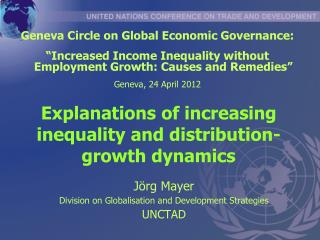 Explanations of increasing inequality and distribution-growth dynamics