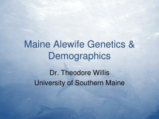 Maine Alewife Genetics & Demographics