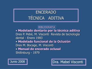 ENCERADO   T CNICA   ADITIVA