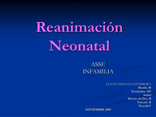 Reanimaci n Neonatal