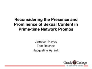 Reconsidering the Presence and Prominence of Sexual Content in Prime-time Network Promos