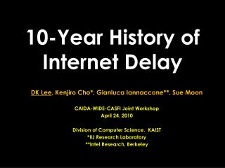 10-Year History of  Internet Delay