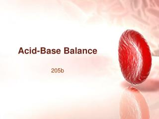 Acid-Base Balance
