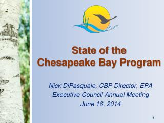 State of the  Chesapeake Bay Program