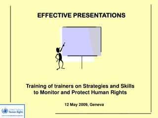 Training of trainers on Strategies and Skills to Monitor and Protect Human Rights