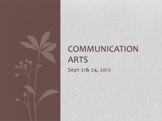 Communication Arts