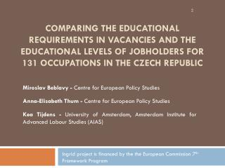 Miroslav Beblavy  -  Centre for European Policy Studies