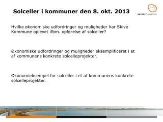 Solceller i kommuner  den  8. okt.  2013