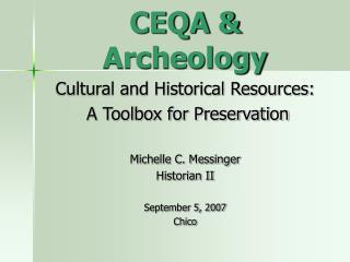 CEQA  Archeology