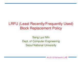 LRFU Least Recently