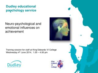 Training session for staff at King Edwards VI College  Wednesday 4 th  June 2014,  1.00 – 4.00 pm