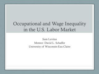 Occupational and Wage Inequality in the U.S. Labor Market