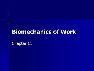 Biomechanics of Work