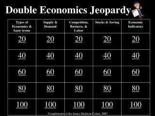 Double  Economics  Jeopardy