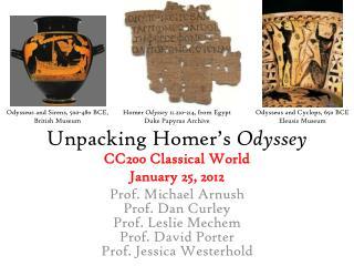 Unpacking Homer's  Odyssey