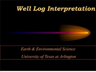 Well Log Interpretation