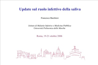 Update sul ruolo infettivo della saliva