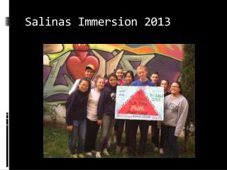 Salinas Immersion 2013
