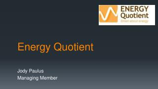 Energy Quotient