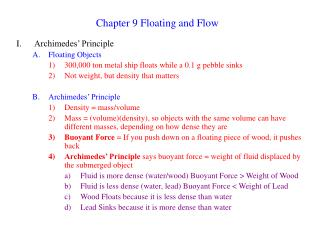 Chapter 9 Floating and Flow