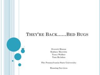 They're Back……Bed Bugs