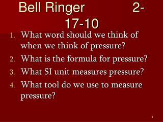 Bell Ringer   2-17-10