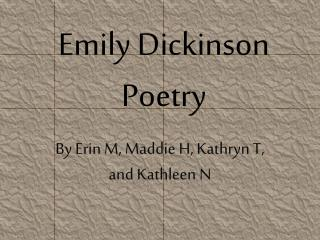 Emily Dickinson Poetry