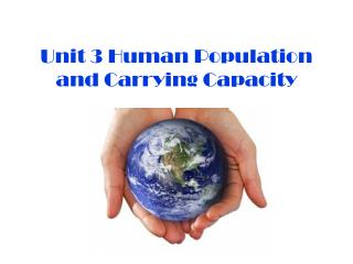 Unit 3 Human Population and Carrying  Capacity