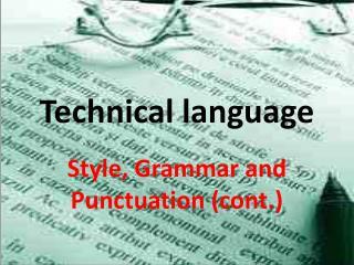 Technical language