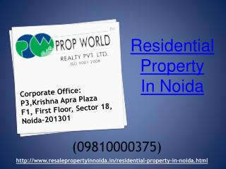 Residential Property in Noida, Kothi in Noida , Resale Flats