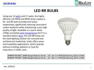 LED BR Bulbs