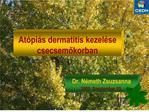 At pi s dermatitis kezel se csecsemokorban