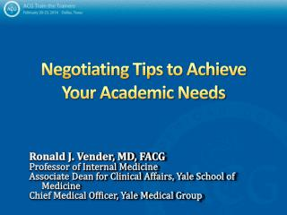 Negotiating Tips to Achieve Your Academic Needs