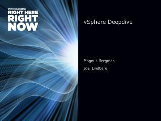 vSphere Deepdive