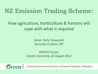 NZ Emission Trading Scheme: