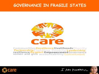 GOVERNANCE IN FRAGILE STATES