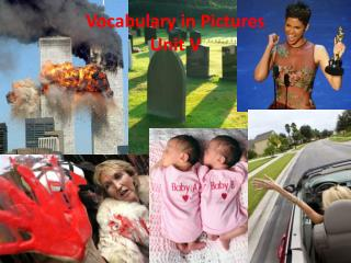 Vocabulary in Pictures  Unit V