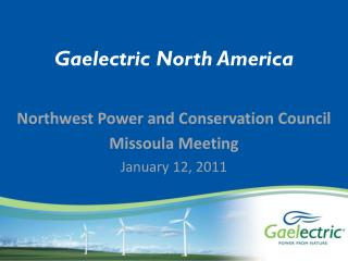 Gaelectric North America