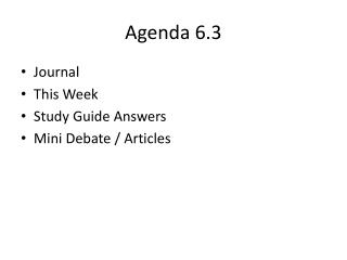 Agenda 6.3