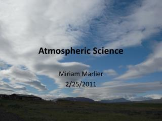 Atmospheric Science