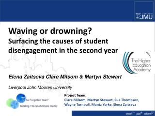 Waving or drowning?  Surfacing the causes of student  disengagement in the second year