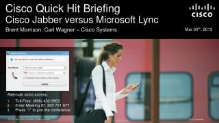 Cisco Quick Hit Briefing Cisco Jabber versus Microsoft  Lync