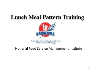 Lunch Meal  Pattern Training