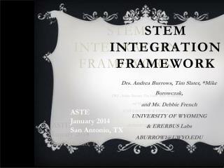 STEM  INTEGRATION FRAMEWORK
