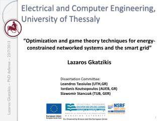 Electrical and Computer Engineering,  University of Thessaly